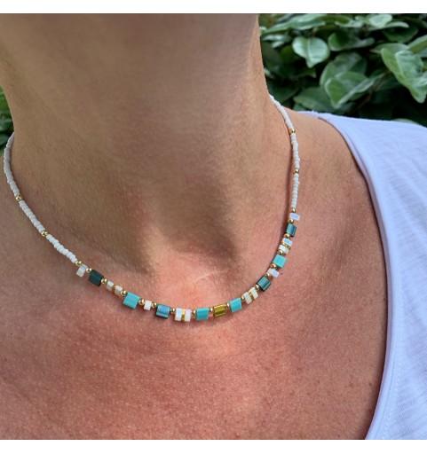Collier perles TILA
